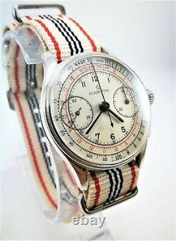 Ultra Rare Vintage Swiss Watch Marvin Pilot Chronograph Circa 1930
