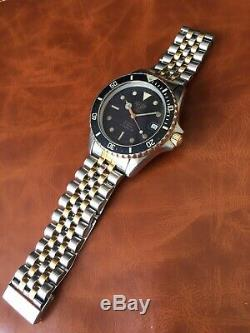 Ultra Rare Vintage (pre Tag) Heuer 1000 Professional Diver's Watch 1980's 2-tone