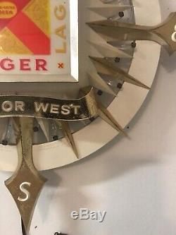 Ultra Rare Vtg Lucky Lager Beer Fiber Motion Beer Sign