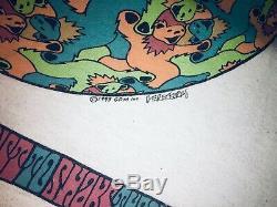 Ultra rare Grateful Dead MC Escher Dancing Bears 1993 shirt liquid blue USA XL