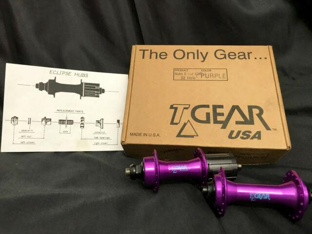 Ultra Rare Nos Tgear Cult T-gear Vintage Oldschool 8 Sp Hubs Set Purple 32h -130