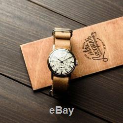 Ultra rare original vintage Soviet watch Zim Aviator 1980 release. Mechanical