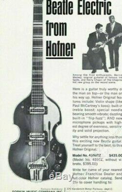Ultra-rare vintage HÖFNER VIOLIN GUITAR 459 VTZ Beat-Jazzgitarre Archtop