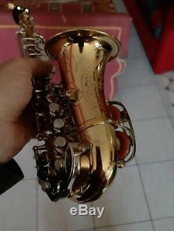 Ultra rare vintage curved Sopranino Saxophone Eb, hanmade sax Prof. Orsi Milano