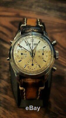 Ultra rare vintage watch GALLET DAT0-COMPAX Ref. 998 cal. Valjoux 72C
