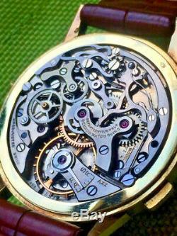 Ultrarare 14 kt gold BENRUS Sky Chief Valjoux 72C triple calendar chronograph 2