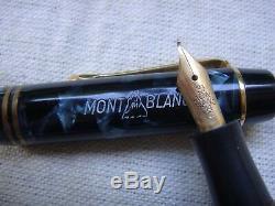 VINTAGEULTRA RAREMontblanc Blue marble 333 1/2 Fountain Pen ///MINT///