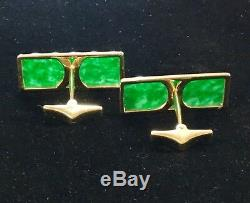 VINTAGE 1970s 18K GOLD HIGH QUALITY EXOTIC JADE ULTRA RARE / UNIQUE