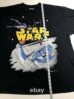 VINTAGE 90s STAR WARS T-SHIRT Ultra Rare 1993 Millennium Falcon 2XL Movie Promo