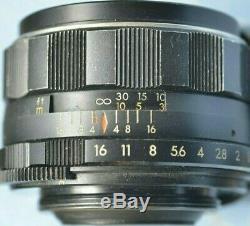 VINTAGE/ ASAHI OPT. Super Takumar 50mm f1.4 8 ELEMENT M42/ULTRA RARE