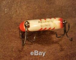 VINTAGE HEDDON SONIC ULTRA RARE tuff tough UNCATALOGUED COLOR red ribs USED COND
