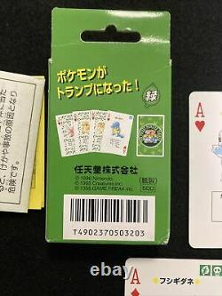 VIntage1996 Pokemon Venusaur playing Cards Green Version Nintendo Poker cards