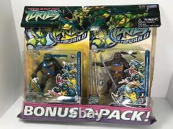 VTG Teenage Mutant Ninja Turtles 2006 FAST FORWARD 2 Pack! SEALED! Ultra Rare