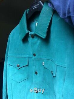 Veste levis vintage clothing ultra rare Lvc cuir suede turquoise neuve M