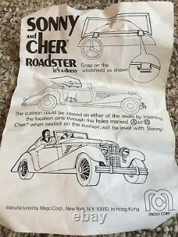 Vintage 1977 Mego Sonny And Cher Roadster Ultra Rare With Box And Contents