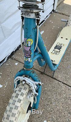 Vintage 1980's GT Zoot Scoot Scooter Ultra Rare Color Light Blue BMX Freestyle