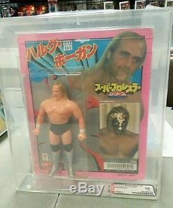 Vintage 1981 AFA Graded 80 Hulk Hogan Popy Wrestling Figure ULTRA RARE WWF LJN