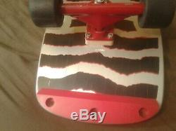 Vintage 1984 Powell Peralta RIPPER Complete Skateboard Ultra Rare Silver & Red