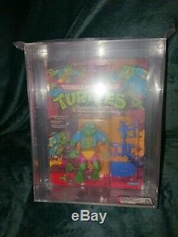 Vintage 1989 Playmates TMNT ULTRA RARE Ghengis Frog AFA 75 TAN belt MOC