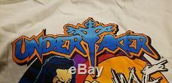 Vintage 1999 WWF WCW WF Racing Shirt 90s Undertaker Ultra Rare Mens Sz. M WWE
