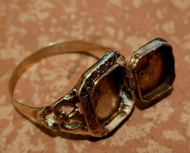 Vintage 40's Wwii Deco Rare Poison Peel Oficer Gold 14k Ring Size 9 Ultra Rare