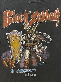 Vintage 70s Black Sabbath 666 Ultra Rare Bloody 1978 Tour Concert Rare T Shirt S