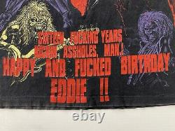Vintage 90s IRON MAIDEN ULTRA RARE 1996 Latin American Tour Eddie XL T Shirt AOP