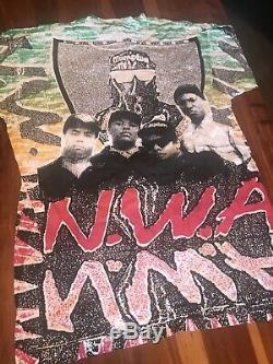 Vintage 90s original NWA t-shirt Size L All Over Print Ultra Rare Hiphop Rap Tee