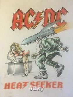Vintage ACDC T Shirt HEATSEEKER 1988 Ultra Rare