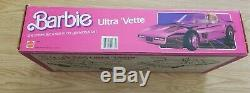 Vintage Barbie Ultra Vette NIB Sealed Corvette metallic Pink CAR Original Rare