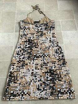 Vintage Fendi Logo Mesh body con dress uk 10-12 halter Ultra RARE Instagram