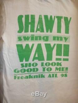 Vintage Freaknik ATL Hip Hop Freaknik 98 Rap T-shirt M 2pac Biggie Ultra Rare