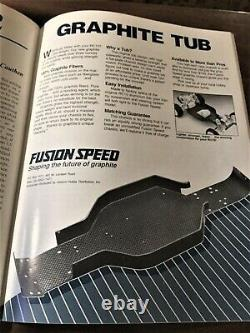 Vintage Fusion Speed Associated RC10 1-piece Graphite Tub FUS1000 Ultra Rare
