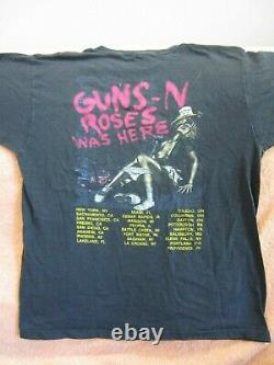 Vintage GUNS N ROSES Concert Shirt 1987 Banned Rape Scene Ultra Rare Original