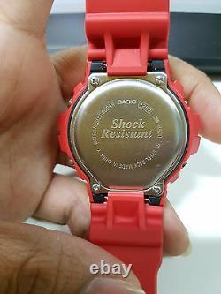 Vintage G-Shock DW-6900 Zaku Gundam Devil Red Matte Collectible Ultra Rare item