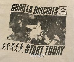Vintage Gorilla Biscuits Summer Tour 89 Ultra Rare T-shirt 1989 Hardcore Sxe