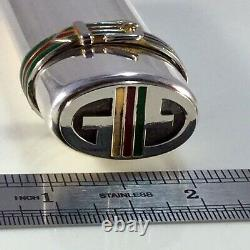 Vintage Gucci 925 Silver Lighter/stash Case Ultra Rare Nice Condition