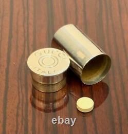 Vintage Gucci 925 Silver Shotgun Shell Stash/pill Box Ultra Rare Collectible