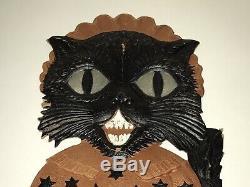 Vintage Halloween Germany Kitty Cat Set Die Cuts ULTRA RARE