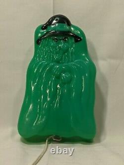 Vintage Halloween Green Witch Blow Mold Holy Grail Ultra Rare