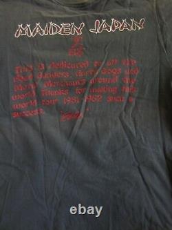 Vintage IRON MAIDEN Concert Shirt 1981 Lg Maiden Japan Ultra Rare Original