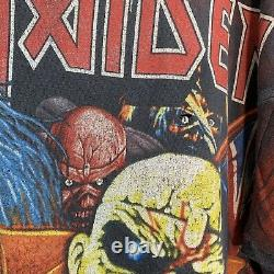 Vintage Iron Maiden Band T-shirt 80s 90s Size 2XL All Over Print ULTRA RARE