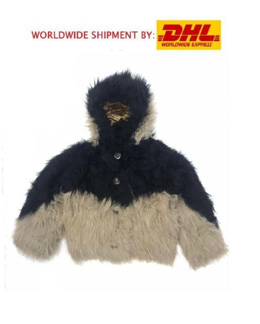 Vintage Issey Miyake Faux Fur Hooded Jacket Ultra Rare Avant-garde Size M Bomber