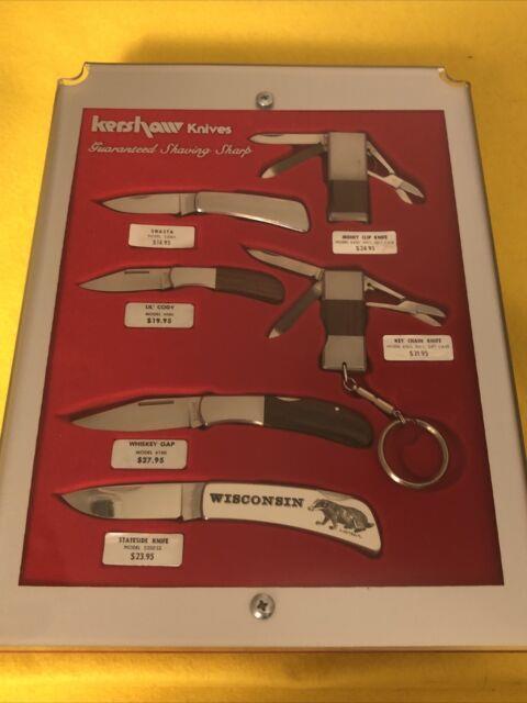 Vintage Kershaw Dealer Lot 6 Knives. Ultra Rare Display Case! 1986 New