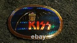 Vintage KISS Demon 1978 Pacific Bat Prism Belt Buckle 1970s Ultra Rare
