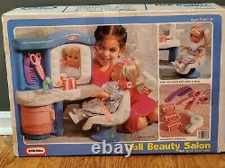 Vintage Little Tikes Doll Beauty Salon Scissors Comb Curlers Ultra Rare! In Box