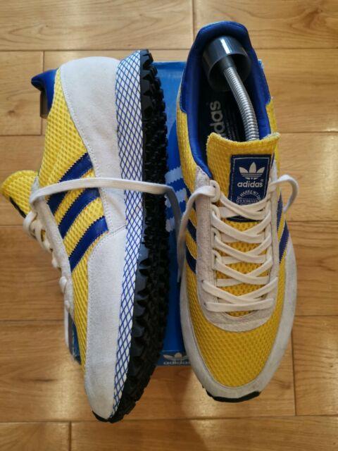 Vintage New York Marathon Adidas Trainers Size 12 Ultra Rare Yellow