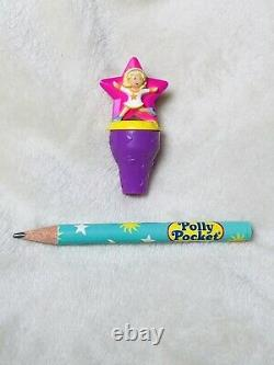 Vintage Polly Pocket 1995 Starbright Pencil Stamper Bluebird Ultra Rare