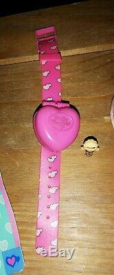 Vintage Polly Pocket 2 In 1 Flit-It Watch/Locket 1993 99% Complete Ultra Rare
