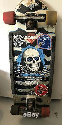 Vintage Powell Peralta RIPPER Complete Skateboard Ultra Rare Blue & Gray